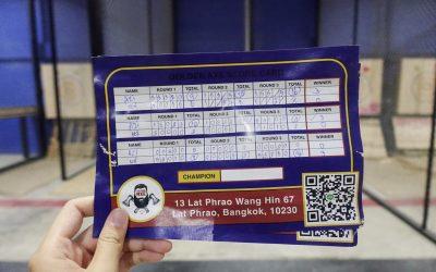 Count Basic Thai Numbers: Scoring at Bangkok's Axe Throwing League.