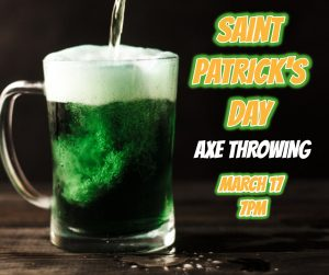 Bangkok St Patrick's Day Bar, Axe Throwing Bangkok Thailand, Events in Bangkok