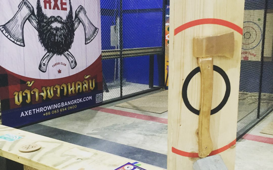 Bangkok, Thailand's 1st Ever Axe Throwing Champion