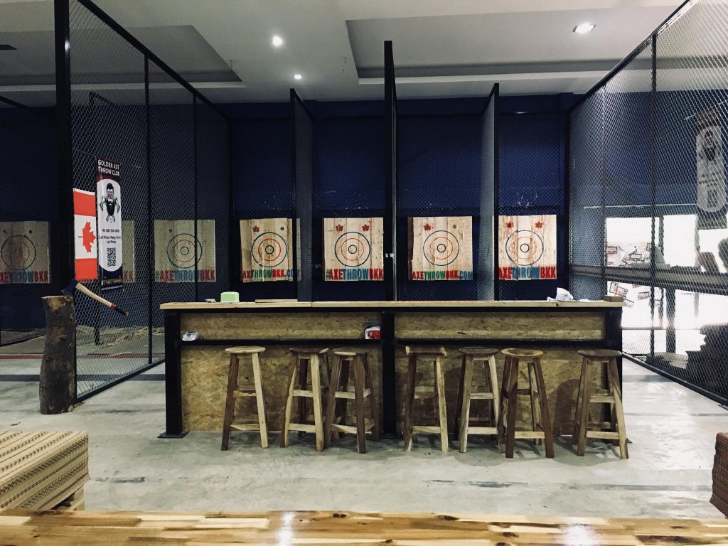 Axe throwing in Bangkok, Thailand Asia