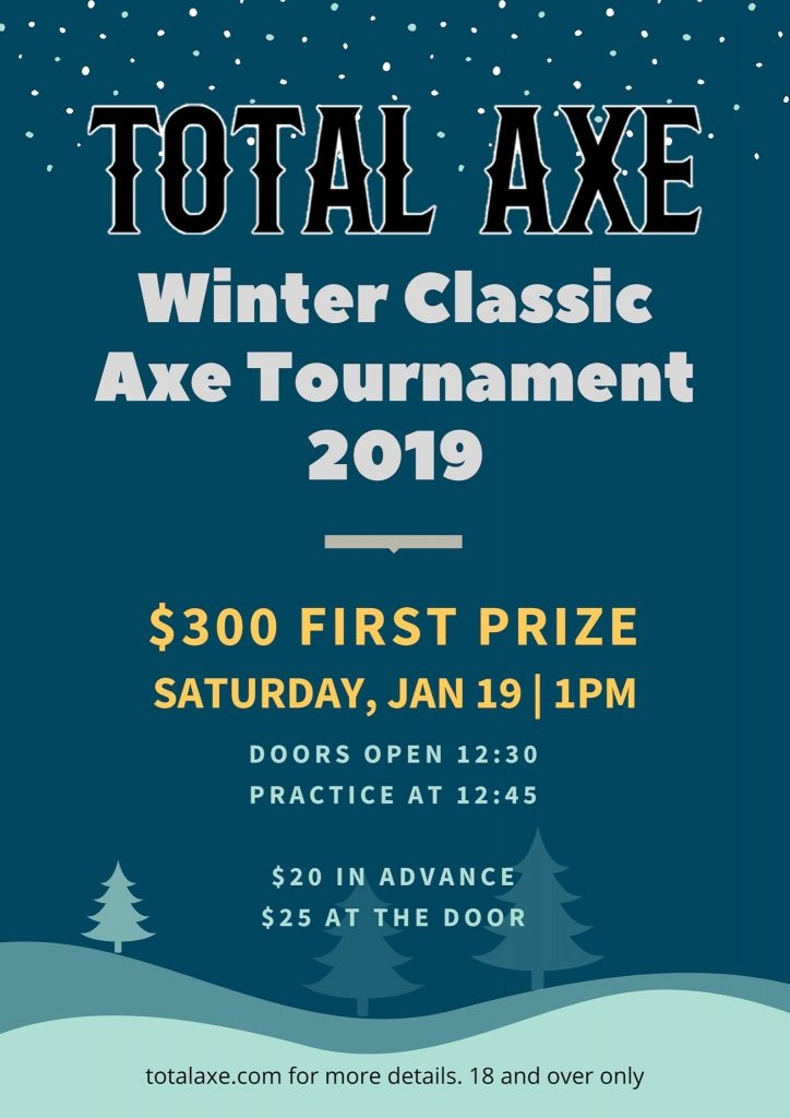 Total Axe Throwing Competition Tournament