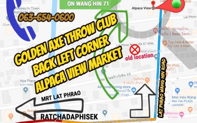 We've Moved! Golden Axe Finds New Home in Lat Phrao Wang Hin 71 Night Market