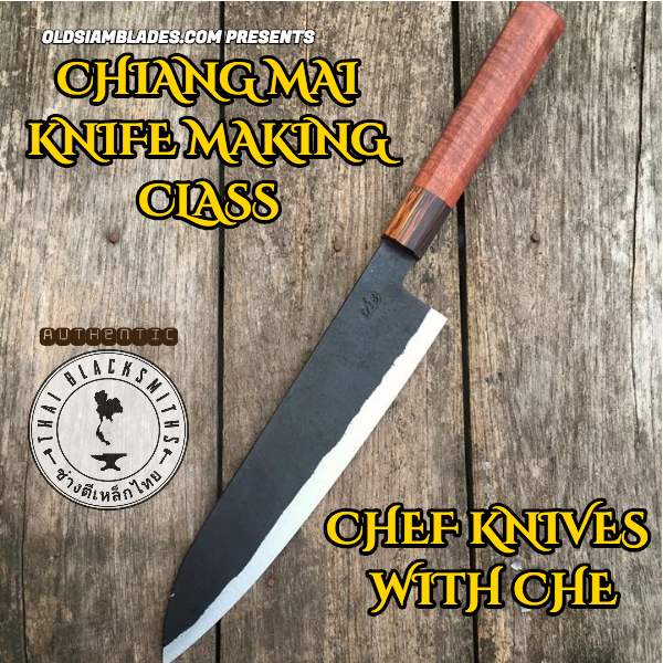 Chiang Mai Cooking class hand forge your own knife