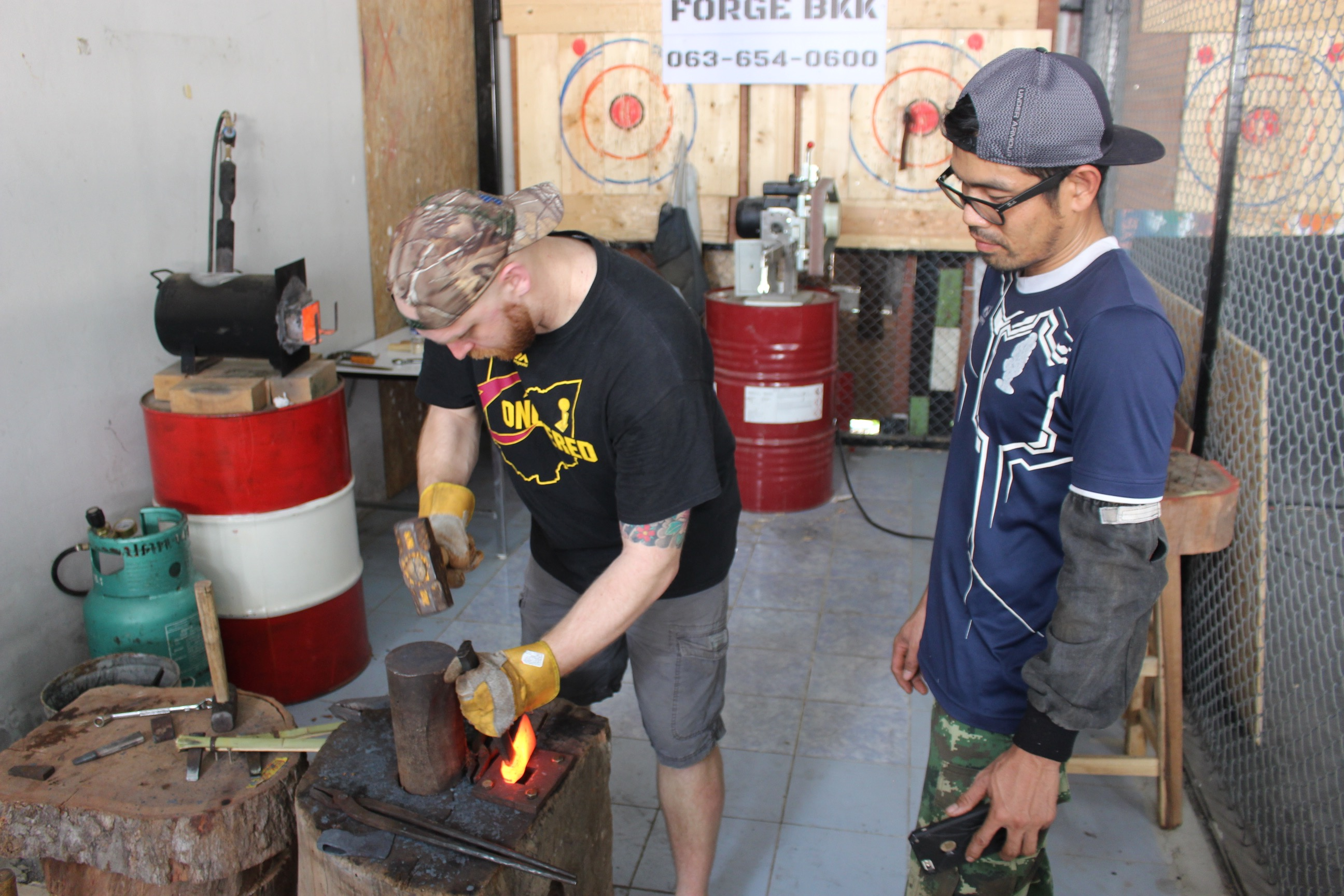 Blacksmithing Knife Making in bangkok Thailand