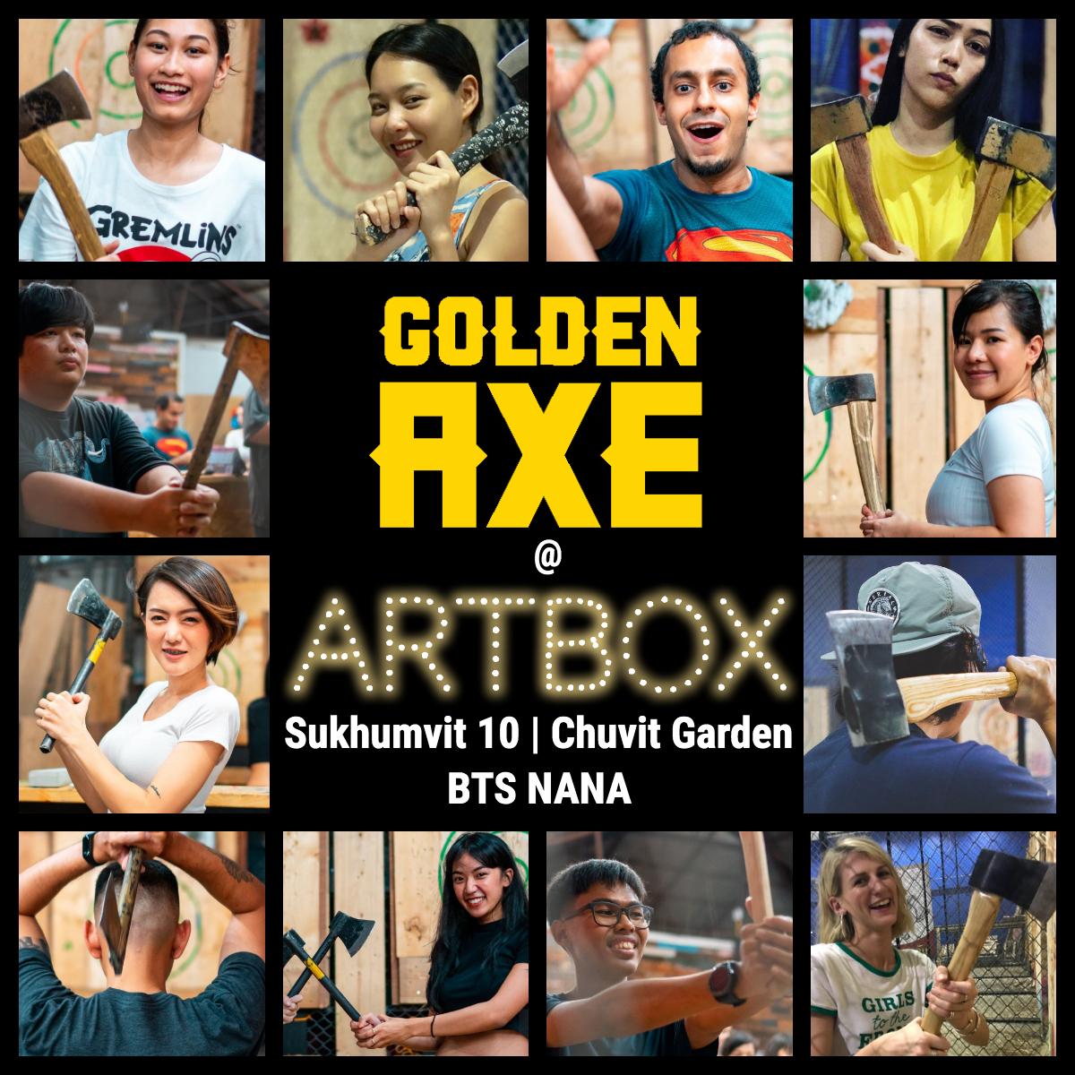 Golde Axe Throwing Bangkok at Artbox Market Sukhumvit 10