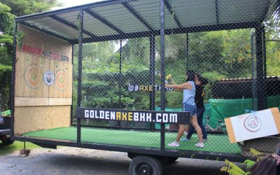 Golden Axe Throwing Goes Mobile! New Trailer Unit Promises Axe Throwing Events Anywhere in Thailand